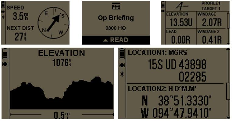 Garmin foretrex 701 - ekrany danych