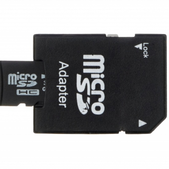 Karta pamięci  mSD/SD 16GB class10 + adapter