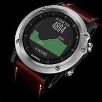 Fenix 3 Sapphire Silver Leather - Sportowy zegarek GPS, łączący w sobie ponadczasowy wygląd i inteligentne funkcje do treningu fitness i nawigacji w otwartym terenie.