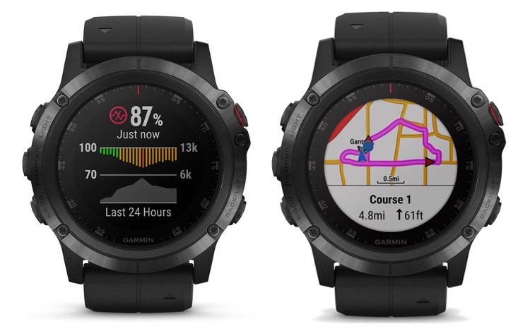 garmin fenix 5x plus opis map
