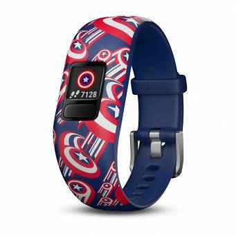 GARMIN VivoFit jr 2 Marvel Kapitan Ameryka [010-01909-12]